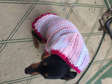 Pink Crocheted Doggy Hoodie - Dawn's Doggy Duds