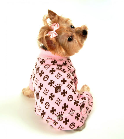 Hip Doggie HD Crown Longjohns-Pink - Dawn's Doggy Duds