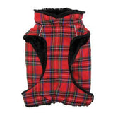 Doggie Design Alpine All Weather Dog Coat - Red and Green Plaid