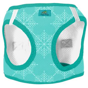 American River Choke Free Dog Harness Holiday Line -Snowflake - Dawn's Doggy Duds