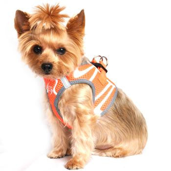 American River Choke Free Dog Harness Neon Sport Collection - Iridescent Orange - Dawn's Doggy Duds
