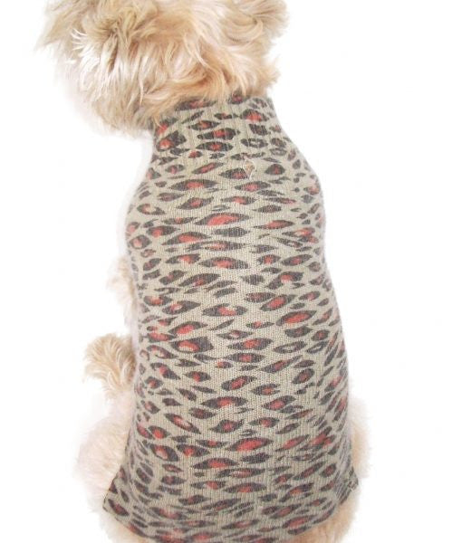 Animal Instincts Leopard Mock Neck Sweater - Dawn's Doggy Duds
