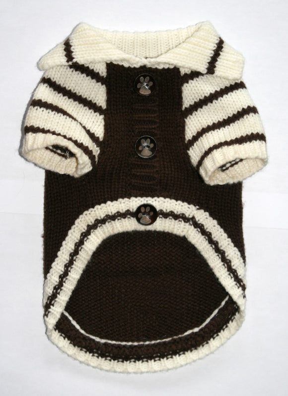 HD Crown Cardigan - Brown - Dawn's Doggy Duds