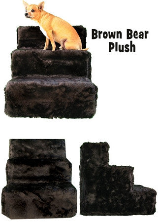 Brown Bear Plush Dog Steps