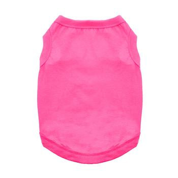 Cotton Dog Tank - Raspberry Sorbet