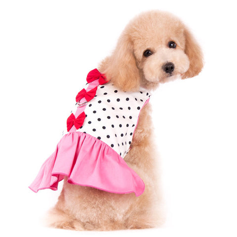 Dogo Easy-D Bow Dot Dog Dress