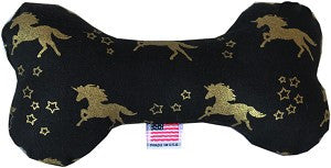 "Mirage Pet Products 6"" Bone Dog Toy Golden Unicorn"