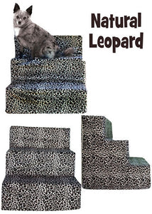 Leopard Velour Dog Steps