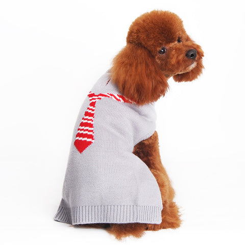 DOGO Necktie Dog Sweater