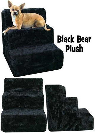 Black Bear Plush Dog Steps