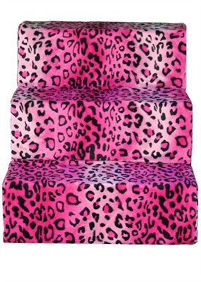 Hot Pink Cheetah Pet Steps