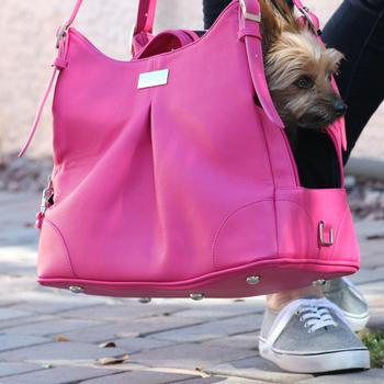 Pink Yarrow Mia Michele Dog Carry Bag - Dawn's Doggy Duds