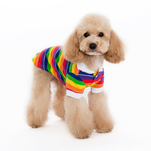 Rainbow Polo - Dawn's Doggy Duds