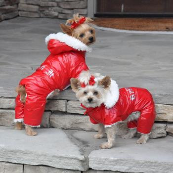 Red Ruffin It Dog Snow Suit Harness