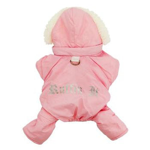 Pink Ruffin It Dog Snow Suit Harness
