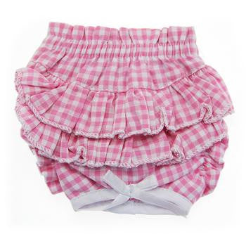 Ruffled Pink Gingham Dog Panties - Dawn's Doggy Duds