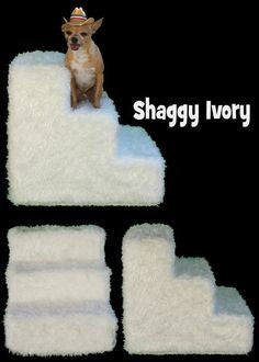 Shaggy Ivory Dog Steps