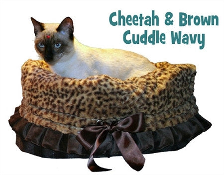 Mirage Pet Cheetah Reversible Snuggle Bugs Dog Bed, Bag, Car Seat