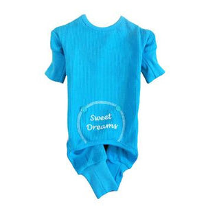 Doggie Design Blue Sweet Dreams Thermal Dog Pajamas