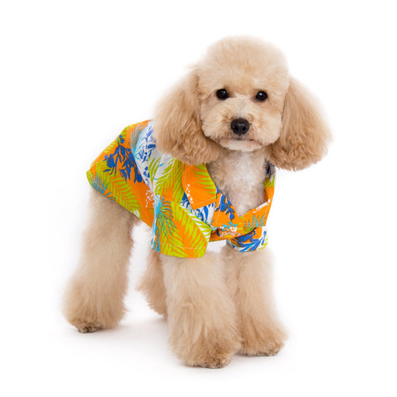 Tropical Island Shirt Orange - Dawn's Doggy Duds