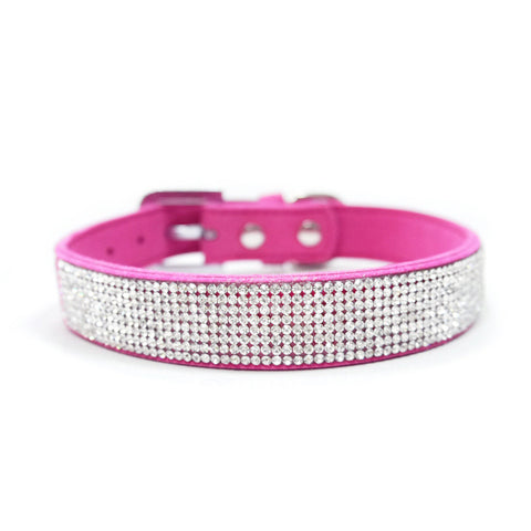 VIP Bling Collar Fuchsia - Dawn's Doggy Duds