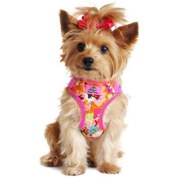 Wrap and Snap Choke Free Dog Harness - Aruba Raspberry - Dawn's Doggy Duds