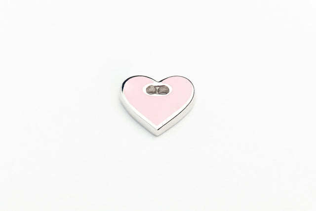 Pinky Heart With Silver Chain