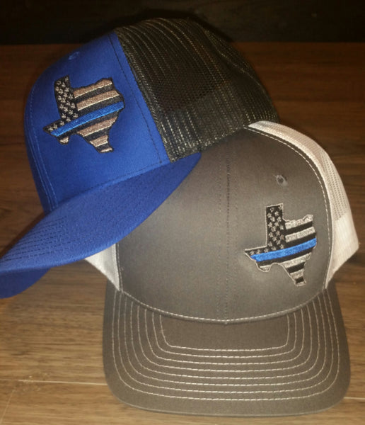Thin Blue Line Texas Cap