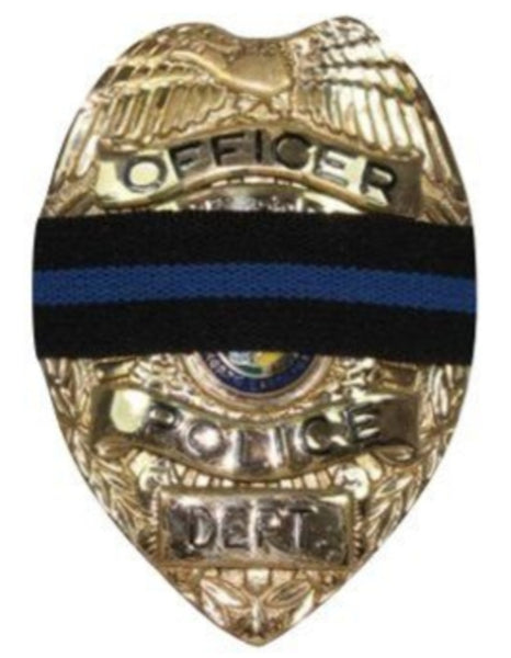 Blue Line Mourning Badge
