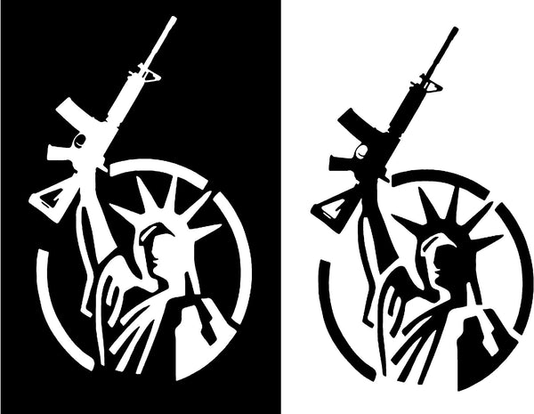Liberty Gun Decal