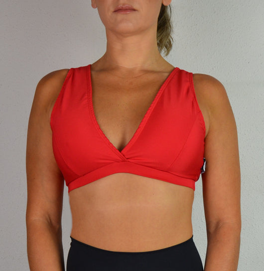 Top Pole Dance ROJO Espalda Abierta / Sports Bra RED Open Back