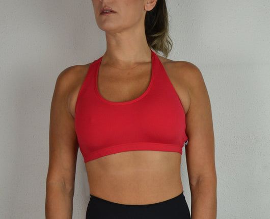 Top Pole Dance Fitness ROJO nadador / Pole Dance Sport Bra RED Swimmer