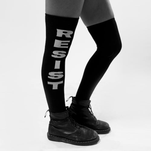 MEDIAS OVER THE KNEE BLACK RESIST SOCKS ROLLING