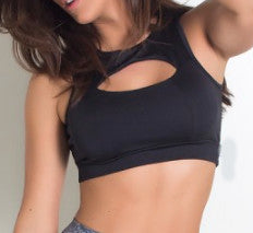 Top Fitness Negro Apertura Pec / Sports Bra Pec Black