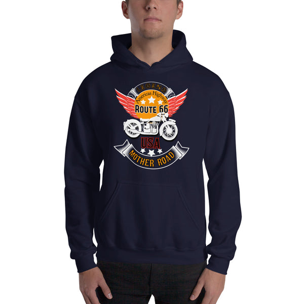 Route 66 unisex Hooded Sweatshirt