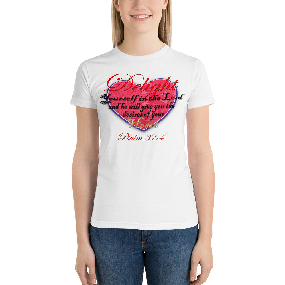 Delight in the Lord Short sleeve women's t-shirt