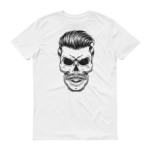 Skull with mustace Short sleeve t-shirt - Say it with Grace clothing co