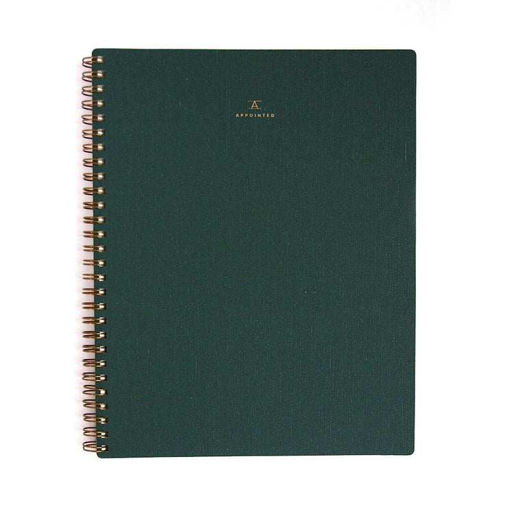 Cuaderno A5 verde Appointed