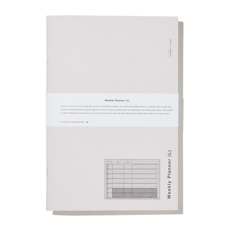 Before Breakfast - Weekly  Planner L - Planificador Semanal A4 (27,5 x 19,5 cm)