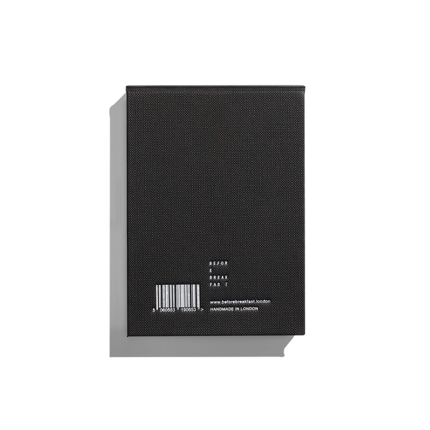 Before Breakfast – Work Pad Black – Bloc de notas A6 (12 x 9 cm)