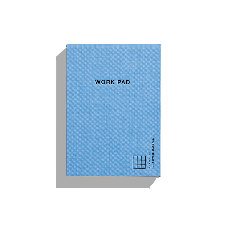 Before Breakfast – Work Pad Blue – Bloc de notas A6 (12 x 9 cm)