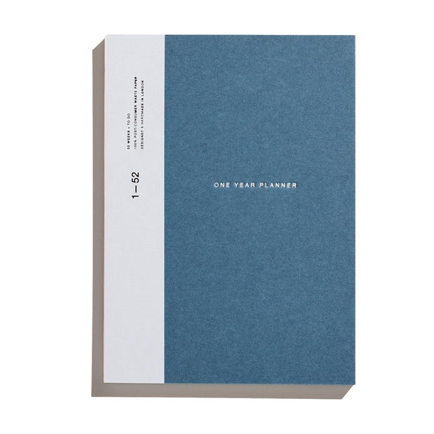 Before Breakfast – One Year Planner Stone Blue (Weekly + To Do) – Planificador Semanal A5 (19,6 x 14,1 cm)