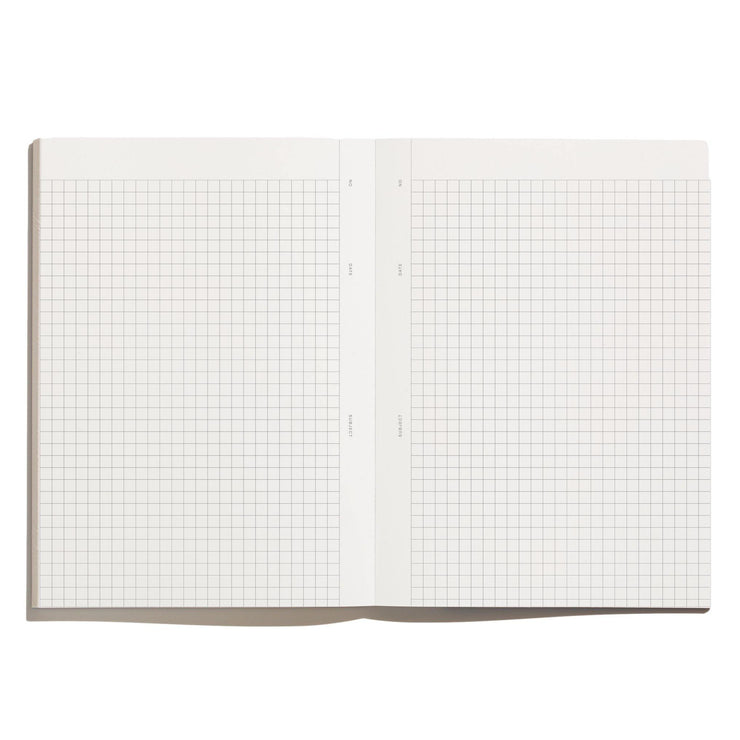 Before Breakfast – Every Day Notes Stone Blue Grids – Cuaderno Cuadriculado A5 (19,6 x 14,1 cm)