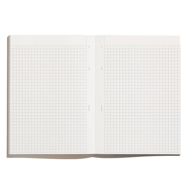 Before Breakfast – Every Day Notes Lilac Grey Grids – Cuaderno Cuadriculado A5 (19,6 x 14,1 cm)
