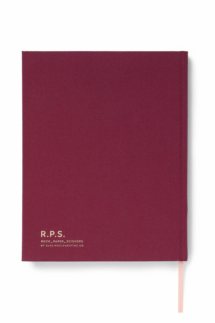 Darling Clementine – R.P.S Notebook Burgundy – Cuaderno Rayado A5 (21,5 x 17 cm)