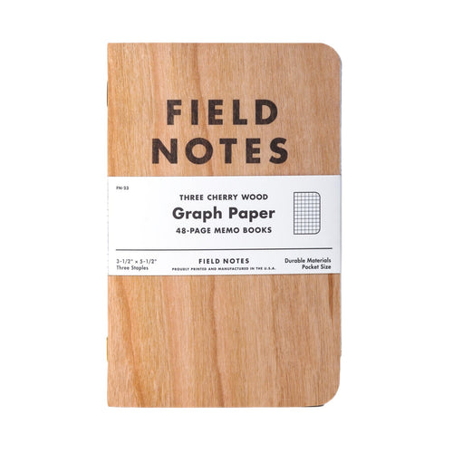 Field Notes - Cherry Graph - Set de 3 Libretas Cuadriculadas A6 (9 x 14cm)