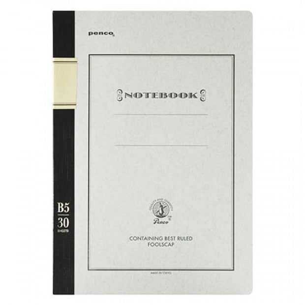 Hightide - Foolscap Notebook Black - Cuaderno Rayado B5 (25,2 x 17,8cm)