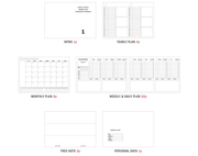 Iconic – Becoming Planner 3 Neo– Planificador semanal y diario para 3 meses A5 (14,8 x 21cm)