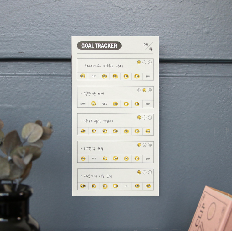 Iconic – Sticky pad Weekly Goal tracker – Planificador Semanal adhesivo (14,5 x 8 cm)