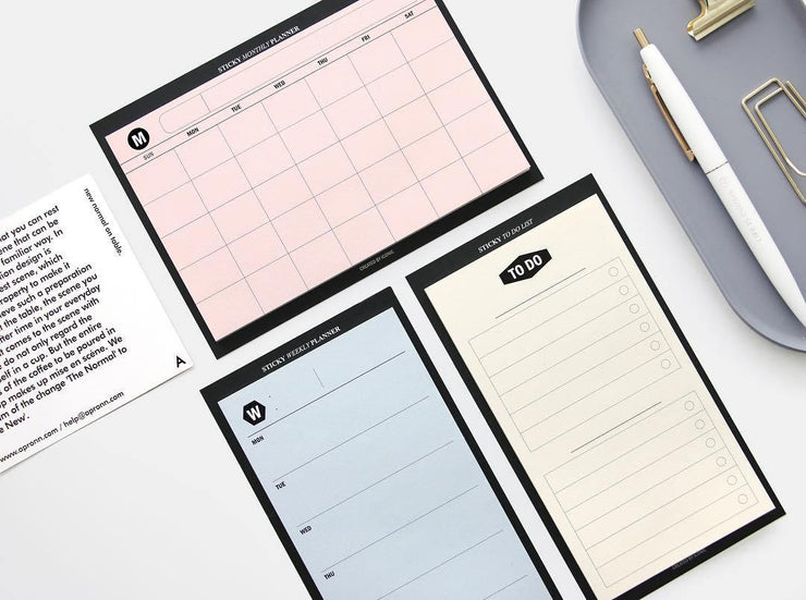 Iconic – Sticky Weekly Planner – Planificador Semanal adhesivo (14,5 x 8 cm)